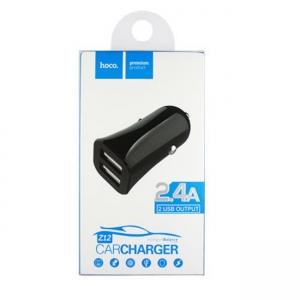 CL adaptér HOCO Z12 2x USB 2,4A barva černá