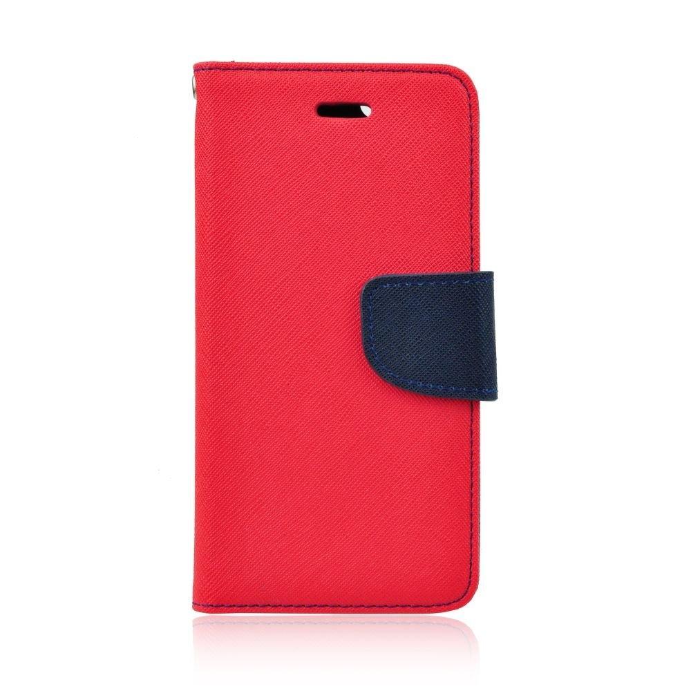 Pouzdro FANCY Diary iPhone XS MAX (6,5) barva červená/modrá