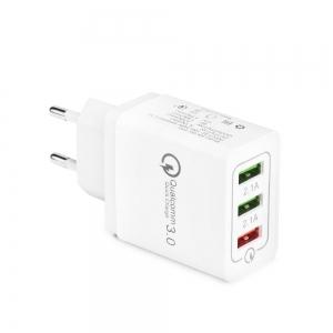 Nabíječka síťová 3x USB universál 5A Quick Charger 3.0 - bulk