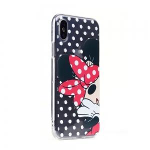 Pouzdro iPhone 5, 5S, 5C, SE Minnie Mouse vzor 003