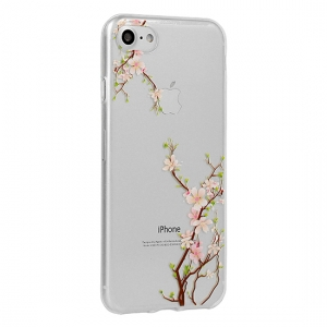 Pouzdro FLORAL Ultra Slim iPhone X, XS (5,8) Cherry
