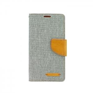 Pouzdro CANVAS Fancy Diary iPhone 5, 5S, 5C, SE šedá
