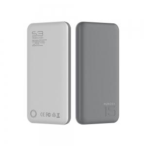 Externí baterie POWER BANK PURIDEA S3 15000mAh šedá