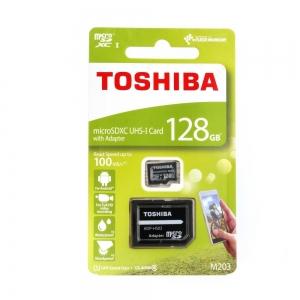 Paměťová karta micro SD TOSHIBA 128GB Class 10 UHS I 100MB/s Blistr
