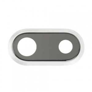 Sklíčko zadní kamery iPhone 8 PLUS 5,5 + rámeček stříbrná