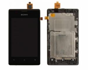 Dotyková deska Sony Xperia E, E Dual C1505, C1605 + LCD + přední kryt černá