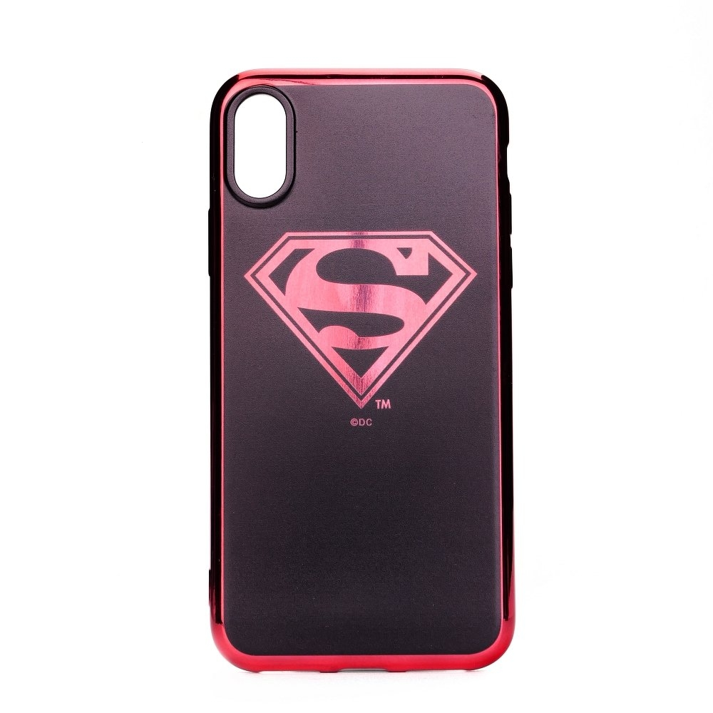 Pouzdro iPhone X, XS (5,8) Superman Luxury Chrome vzor 004
