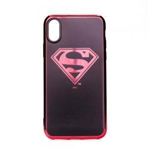Pouzdro iPhone X, XS (5,8) Superman Luxury Chrome vzor 004