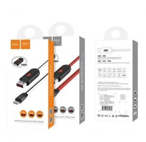 Datový kabel HOCO U29 s LCD iPhone 5, 6, 7, 8, X