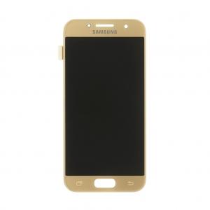 Dotyková deska Samsung A320 Galaxy A3 (2017) + LCD zlatá Class A (tloušťka +0,3mm)