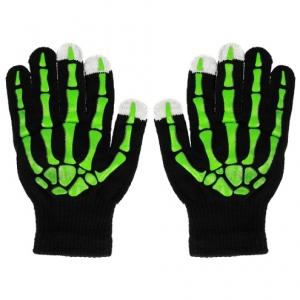 Rukavice pro dotykové LCD SKELETON barva zelená