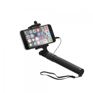 Selfie držák BLUN MINI 82cm 3,5mm jack barva černá