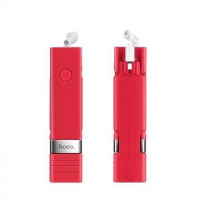 Selfie držák HOCO Beauty K3A barva červená - připojení pro iPhone