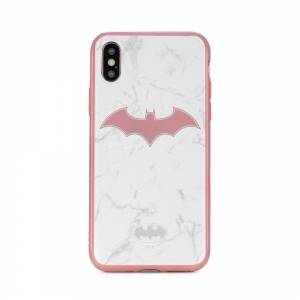 Pouzdro iPhone 5, 5S, 5C, SE Batman White Luxory vzor 008