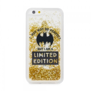 Pouzdro iPhone X, XS (5,8) Batman Bat Girl Gold Sand vzor 007