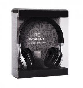 Sluchátka EP-16 Extra BASS barva černá