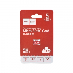 Paměťová karta micro SD HOCO 16GB Class 10 (USB 3.0) High Speed Blistr