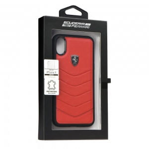 Pouzdro Ferrari iPhone X, XS (5,8) Hardcase FEHQUHCPXRE červená