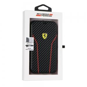 Pouzdro Ferrari iPhone 6 PLUS, 6S PLUS, 7 PLUS, 8 PLUS (5,5) Book FESCAFLBKP7LBK černá