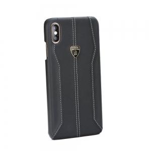 Pouzdro Lamborghini iPhone XS MAX (6,5) HURACAN-D1 Leather Back Case LB-HCIPXSP-HU/D1-BK černá