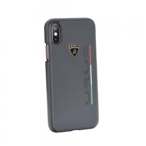 Pouzdro Lamborghini iPhone X, XS (5,8) URUS-D2 Back Cover LB-HCIPX-UR/D2-GY šedá