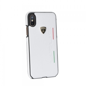 Pouzdro Lamborghini iPhone 7, 8  (4,7) URUS-D2 Back Cover LB-HCIP8-UR/D2-WE bílá