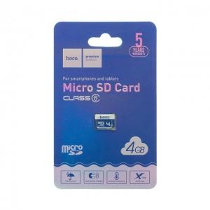 Paměťová karta micro SD HOCO 4GB Class 10 (USB 3.0) High Speed Blistr