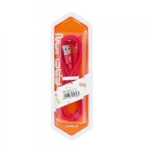 Datový kabel micro USB Typ C 3.0 konektor pravý úhel barva červená (blistr)
