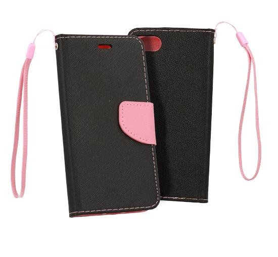 Pouzdro FANCY Diary Samsung J610 GALAXY J6+ (J6 PLUS) barva černá/růžová