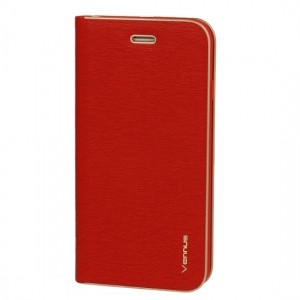 Pouzdro VENNUS Book Huawei P SMART barva červená