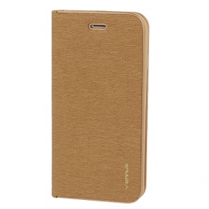 Pouzdro VENNUS Book Huawei P20 Lite barva zlatá