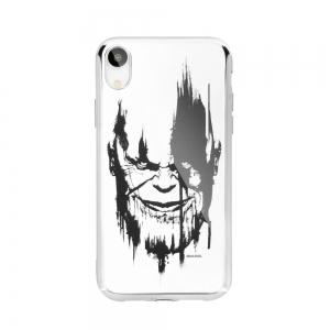 Pouzdro iPhone 5, 5S, SE, 5C MARVEL Thanos Luxory Chrome vzor 004 - silver