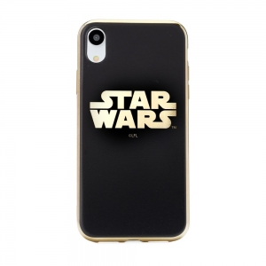 Pouzdro iPhone XR (6,1) Star Wars Luxory Chrome vzor 002 - gold