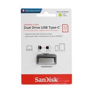 USB Flash Disk (PenDrive) SANDISK ULTRA DUAL DRIVE 32GB USB 3.0 150MB/s - micro USB TYP-C