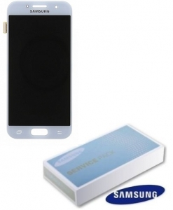 Dotyková deska Samsung A320 Galaxy A3 (2017) + LCD blue Service Pack - originál