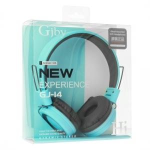 Sluchátka GJBY GJ-14 AUDIO Extra BASS barva modrá