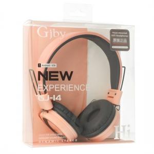 Sluchátka GJBY GJ-14 AUDIO Extra BASS barva růžová