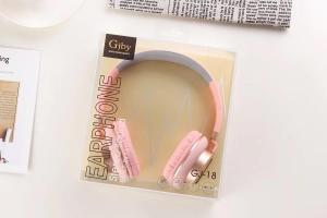 Sluchátka GJBY GJ-18 AUDIO Extra BASS barva růžová
