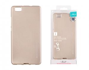 Pouzdro MERCURY i-Jelly Case METAL Huawei P SMART (2019) zlatá