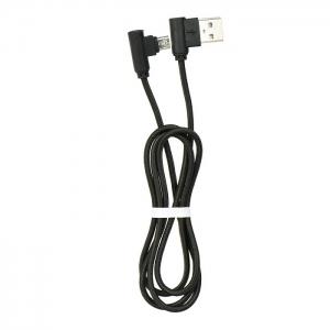 Datový kabel micro USB koncovky pravý úhel 90 barva černá